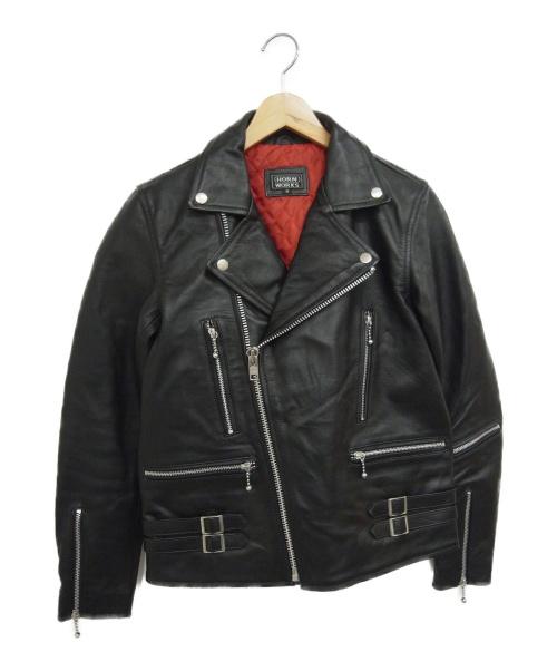 HORN WORKS(ホーンワークス)HORN WORKS (ホーンワークス) ライダースジャケット ブラック サイズ:Mの古着・服飾アイテム