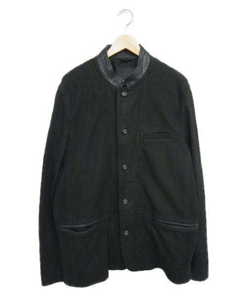 ALL SAINTS(オールセインツ)ALL SAINTS (オールセインツ) レザージャケット ブラック サイズ:LARGE headen blazerの古着・服飾アイテム