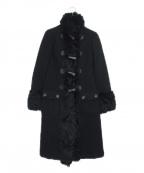 GRACE CONTINENTAL()の古着「メルトンファーコート」 ブラック
