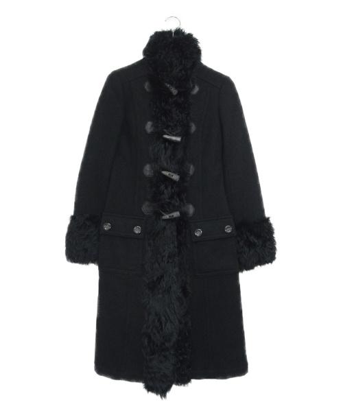 GRACE CONTINENTAL(グレースコンチネンタル)GRACE CONTINENTAL (グレースコンチネンタル) メルトンファーコート ブラック サイズ:36の古着・服飾アイテム
