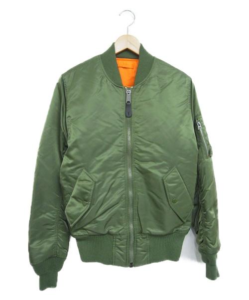 ALPHA(アルファ)ALPHA (アルファ) リバーシブルMA-1ジャケット オリーブ サイズ:XSMALLの古着・服飾アイテム