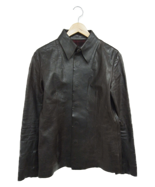 ISAMU KATAYAMA BACKLASH(イサムカタヤマ・バックラッシュ)ISAMU KATAYAMA BACKLASH (イサムカタヤマ バックラッシュ) レザージャケット ブラウン サイズ:2の古着・服飾アイテム