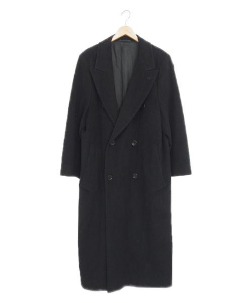 HUGO BOSS(ヒューゴ ボス)HUGO BOSS (ヒューゴボス) カシミヤ混ダブルチェスターコート ブラック サイズ:52 Loro Piana生地使用の古着・服飾アイテム