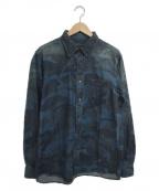 SOPHNET.(ソフネット)の古着「カモフラ柄シャツ」 ブルー