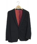 ()の古着「ギャザーミックスアップジャケット」 ブラック