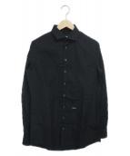 ()の古着「コットンポプリンシャツ」|ブラック