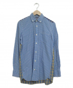CDG JUNYA WATANABE MAN(コムデギャルソン ジュンヤワタナベマン)の古着「リメイクチェックシャツ」 イエロー×ブルー