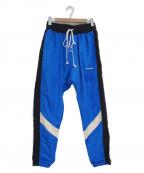 daniel patrick(ダニエルパトリック)の古着「ナイロントラックパンツ」|ブラック×ブルー