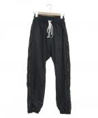 daniel patrick(ダニエルパトリック)の古着「ナイロントラックパンツ」|ブラック
