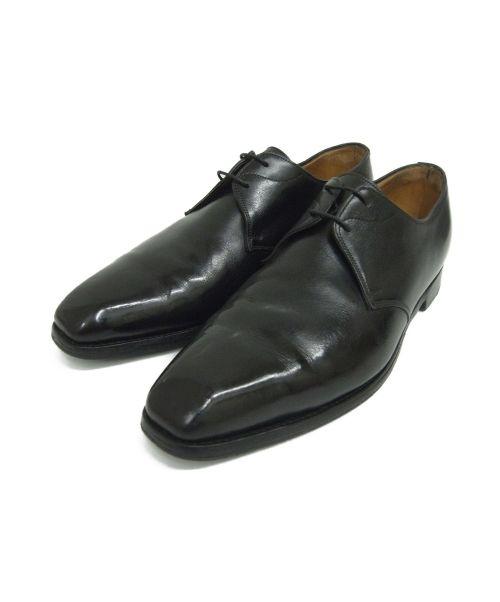 JOHN LOBB(ジョンロブ)JOHN LOBB (ジョンロブ) スクエアトゥーシューズ ブラック サイズ:8 SANDON ラスト4800の古着・服飾アイテム