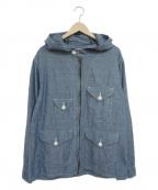 POST OALLS(ポストオーバーオールズ)の古着「クルーザーパーカー」|ブルー
