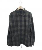 KUON(クオン)の古着「チェックコーチジャケット」|グレー