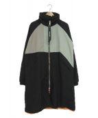 ()の古着「ナイロンモッズコート」 グレー×ブラック
