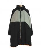 daniel patrick(ダニエルパトリック)の古着「ナイロンモッズコート」|グレー×ブラック
