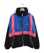 daniel patrick(ダニエルパトリック)の古着「ナイロントラックジャケット」|ブルー×ブラック