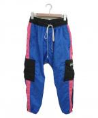 daniel patrick(ダニエルパトリック)の古着「ナイロントラックパンツ」|ブルー×ピンク