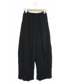 KANATA(カナタ)の古着「ヒダパンツ」|ブラック
