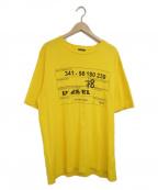 DIESEL()の古着「プリントTシャツ」|イエロー