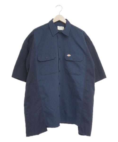 77circa × Dickies(ナナナナサーカ×ディッキーズ)77circa × Dickies (ナナナナサーカ×ディッキーズ) リメイクワークシャツ ネイビー サイズ:Mの古着・服飾アイテム