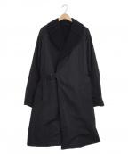 COMOLI()の古着「タイロッケンコート」|ブラック×ネイビー