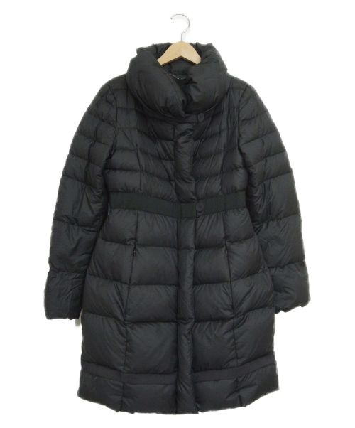 MAX&Co.(マックスアンドコー)MAX&Co. (マックスアンドコー) ショールカラーダウンコート ブラック サイズ:40の古着・服飾アイテム