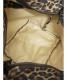中古・古着 Herve Chapelier (エルベシャプリエ) レオパード舟形ミニトートバッグ ブラック×ブラウン サイズ:下記参照:7800円