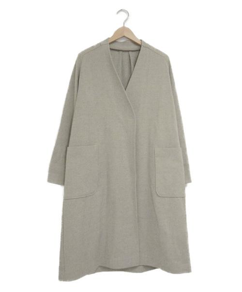 fredy emue(フレディエミュ)fredy emue (フレディエミュ) V開きライトコート グレー サイズ:38の古着・服飾アイテム