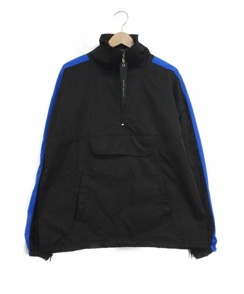 daniel patrick(ダニエルパトリック)daniel patrick (ダニエルパトリック) ナイロンアノラックジャケット ブルー×ブラック サイズ:Sの古着・服飾アイテム