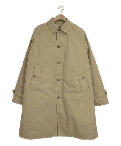 BEAMS(ビームス)BEAMS (ビームス) ダウンライナー付きステンカラーコート ベージュ サイズ:Mの古着・服飾アイテム