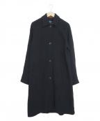 HUMAN WOMAN(ヒューマンウーマン)の古着「ジャージーチェスターコート」|ネイビー