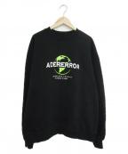 ADER error(アーダーエラー)の古着「エンブロイダリーロゴクルーネックスウェット」|ブラック