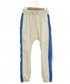 daniel patrick(ダニエルパトリック)の古着「トラックパンツ」|ホワイト×ブルー
