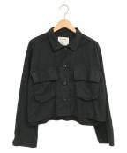 FRAMeWORK(フレームワーク)の古着「ワークスクエアジャケット」 ブラック
