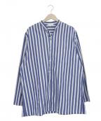 THEE(シー)の古着「チャイナシャツ」|ブルー×ホワイト