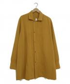 Edwina Horl()の古着「オープンカラーシャツ」|ブラウン
