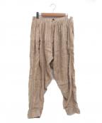 YANTOR(ヤントル)の古着「カディシルクタックパンツ」 ベージュ