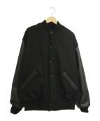 GAME(ゲーム)の古着「袖切替スタジャン」|ブラック