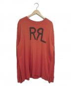 RRL()の古着「ロゴカットソー」|レッド