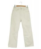 ()の古着「ハードツイスト5Pデニム」 ホワイト
