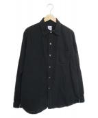POST OALLS(ポストオーバーオールズ)の古着「リネンブレンドシャツ」|ブラック
