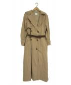 Ameri(アメリ)の古着「バックプリーツトレンチコート」|ベージュ