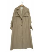 Ameri(アメリ)の古着「バックプリーツレイヤードコート」|ベージュ