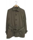 ()の古着「ステンカラーハーフコート」 ベージュ