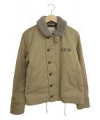 AVIREX(アヴィレックス)の古着「N-1デッキジャケット」|ベージュ