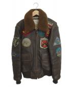 ()の古着「G-1レザーフライトジャケット」 ブラウン