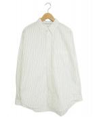 ()の古着「トーマスメイソンL/Sボックスシャツ」 ホワイト×ブラック