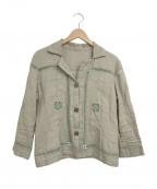 TOKUKO1erVOL(トクコプルミエヴォル)の古着「刺繍ブラウス」 グレー