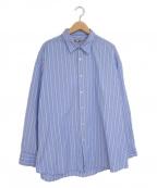 is-ness(イズネス)の古着「ベンチレーションロングスリーブシャツ」|ブルー