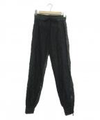 N°21(ヌメロヴェントゥーノ)の古着「エコレザーイージーパンツ」|ブラック