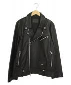 EMMA CLOTHES(エマクロシーズ)の古着「シープレザーダブルライダースジャケット」|ブラック